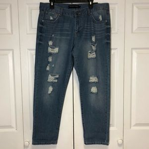 Rue21 Low Rise Boyfriend Distressed Jean 13/14